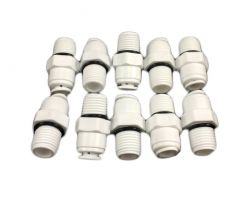 "10x Straight Quick Connectors 1/4"" Male to 1/4"" Tube BULK BUY(10-22)"