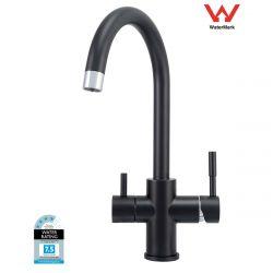 RO Water Filter Kitchen Faucet Tap Mixer 3 Way Matte Black Gooseneck WaterMark
