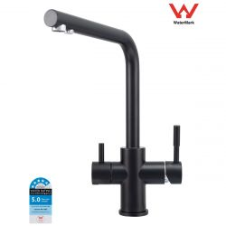 Matte Black Modern L-Shaped 3 Way Drinking Water Kitchen Faucet Mixer Tap | 5-Star Efficient Water Rating | Watermark Certified | Filter Systems Australia