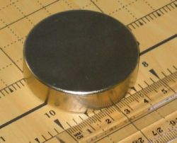 Buy 2 Industrial Strength Disc Magnets 50 x 12.5mm N45 Neodymium Rare Earth (N1)