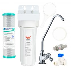 Single Carbon Under Sink Water Filter System Kit with Tap