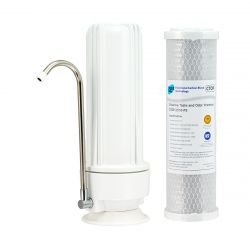 HPF Benchtop Water Filter System 0.5 Micron Premium Carbon Filters H1-100CTOP