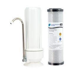 HPF Benchtop Water Filter System 20 Micron Low Pressure Drop Carbon H1-100LPD