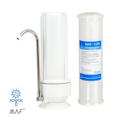 HPF Benchtop Water Filter System 0.1 Micron Sediment, Chemical & Bacterial Reduction Filter (H1-100MAF)