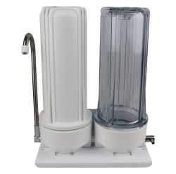 HPF Twin Bench Top Water Filter System - Various Filter Options (H1-150)