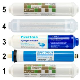 6 Stage Hydrogen Rich Reverse Osmosis Water Filter Full Replacement Pack GT1-11SHFM