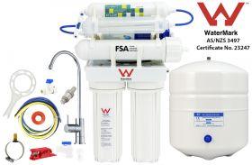 7 Stage Hydrogen-Rich Reverse Osmosis Water Filter System High Alkaline Undersink 1-26-7
