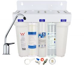 Triple Undersink Water Filter System RURAL | Tank Water | Creek, Dam Water 1-38T