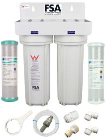 Twin Undersink Mixer Tap Water Filter System (1-3MKPLV)
