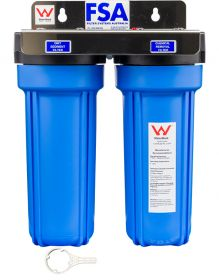 WaterMark Certified Twin Caravan Water Filter System | Stainless Bracket