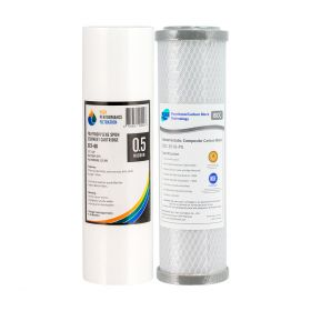 """Replacement Water Filter Cartridges Silver Impregnated 0.5uM 10"""" x 2.5"""" 2-0 4-58"""