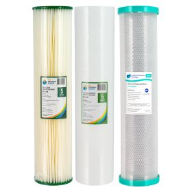 """Triple 20"""" x 4.5"""" Big Blue Water Filter Replacement Pack"""