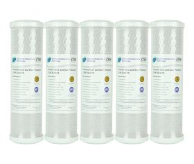 "5x Pure Premium CTO Carbon Block Water Filters 0.5 Micron 10"" x 2.5"""